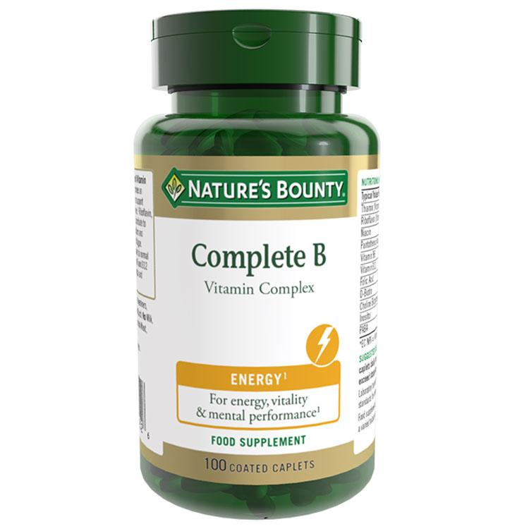 Image of Natures Bounty Complete B Vitamin Complex - 100 Tablets