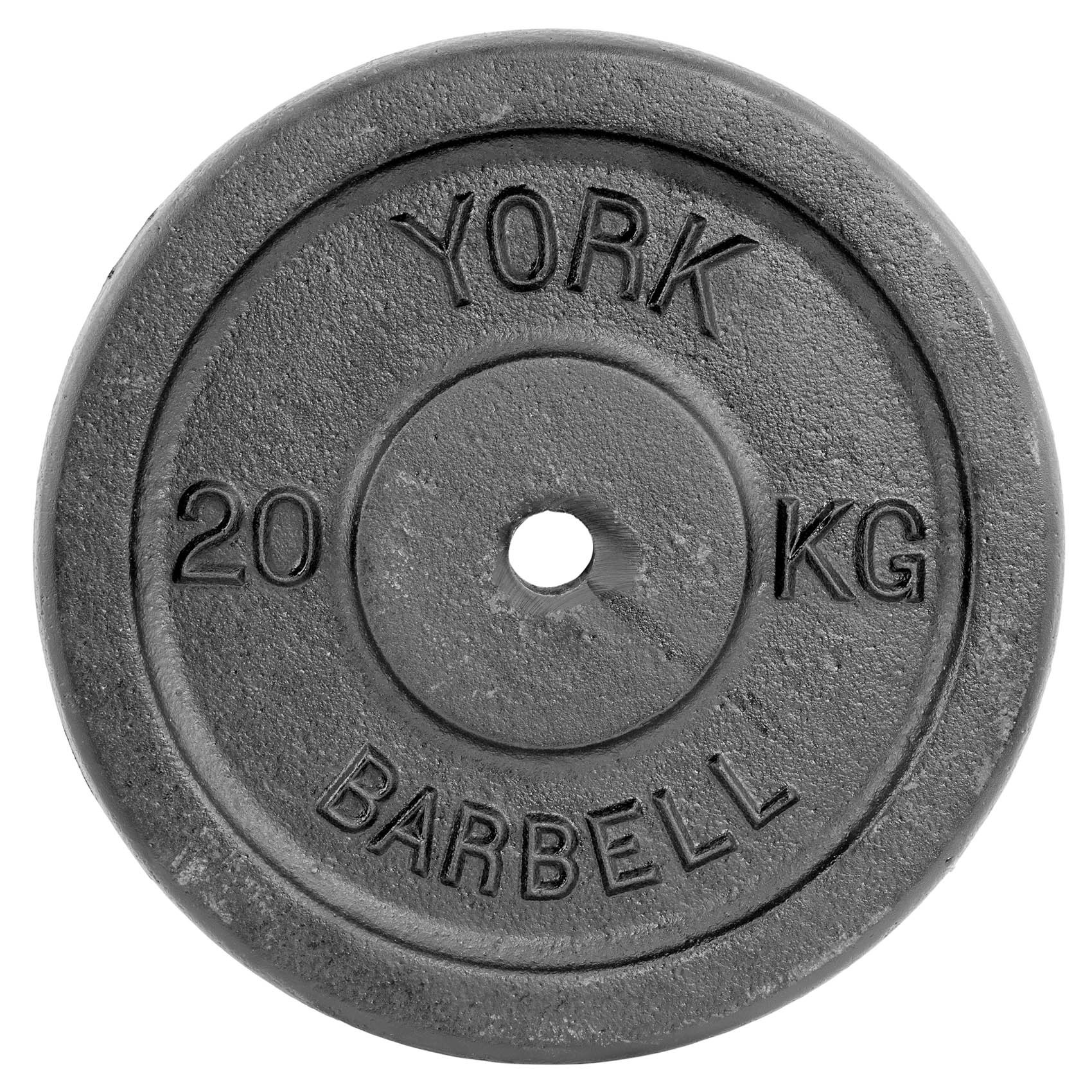 Image of York 20kg Black Cast Iron 1Inch Plate