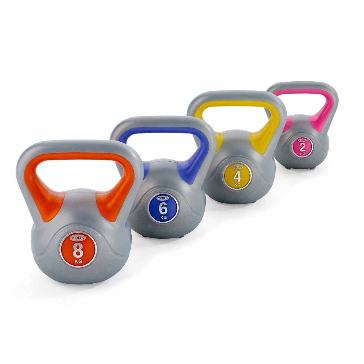 Image of York 2, 4, 6 and 8kg Vinyl Kettlebell Weight Set
