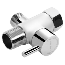 LUXE Metal T-Adapter with Shut-Off Valve (Original Chrome Finish)