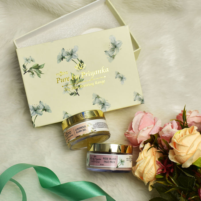 Rose Blush Face Mask & Luxurious Elixir Gel Duo Gift Box
