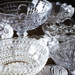 Dessert Table Crystal Cake Platter, Bowls & Jars