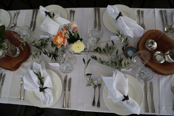 Table Settings - Cedar Log Rings