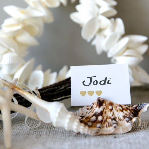 Table Setting Shell Card Holder