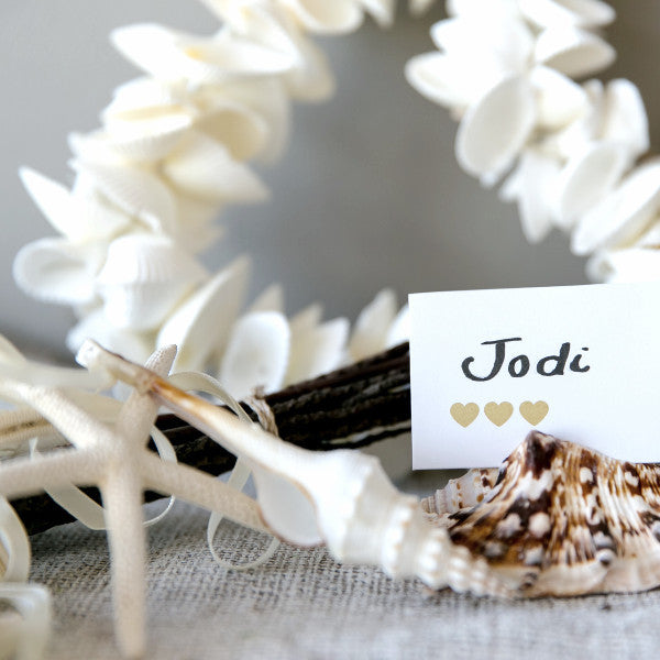 Wedding Prop Shell on a Ribbon Single