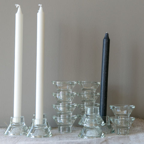 Candle Holder Glass Set