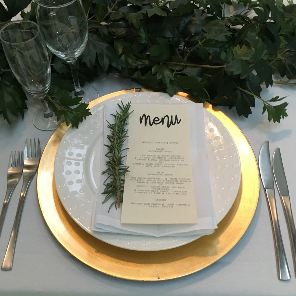 Bon Table Setting Gold Charger