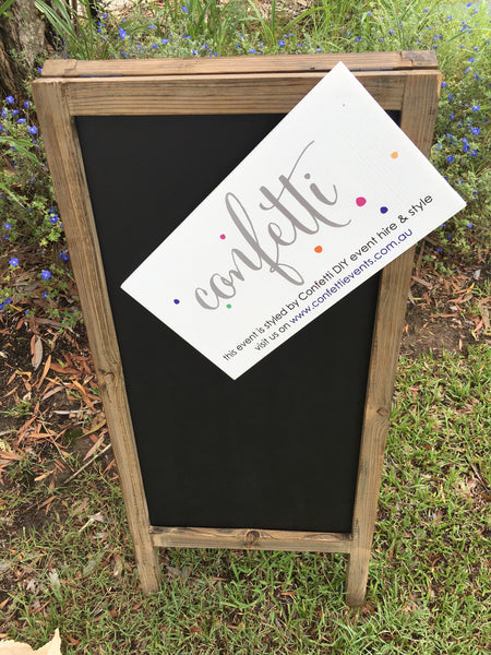 Ceremony Backdrop Signs