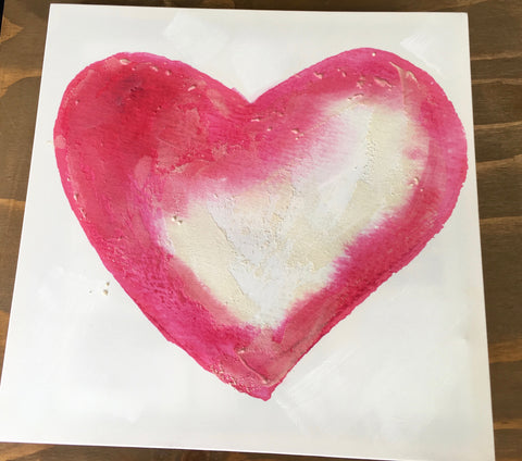 Wedding Prop- Heart Canvas