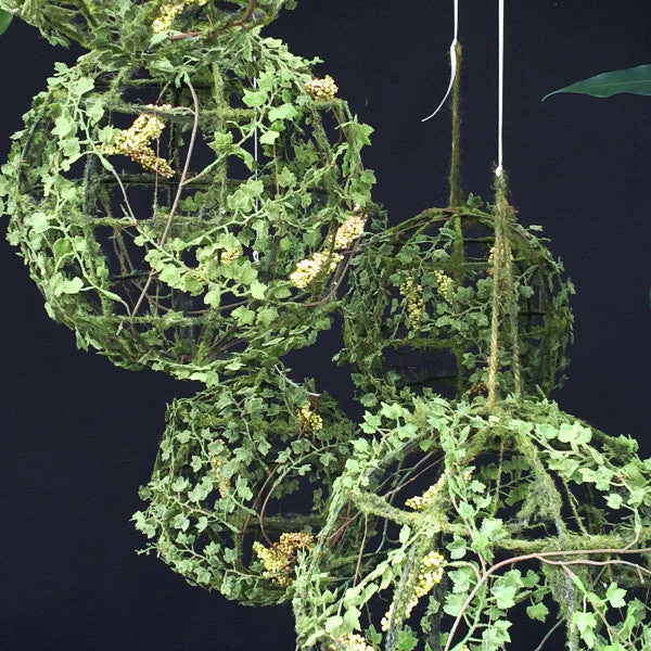 Ceremony Backdrop Ivy Hanging Globe