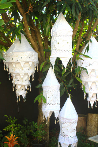 Wedding Prop Calico Embellished Hanging Lanterns