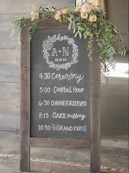 Wedding Prop Blackboard