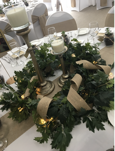 Table Settings Burlap/hessian table runners