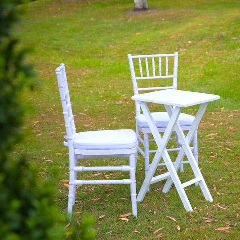 Ceremony Table & Chairs White Bistro Set