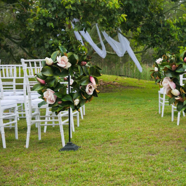 Ceremony Backdrop Fabric White Drape