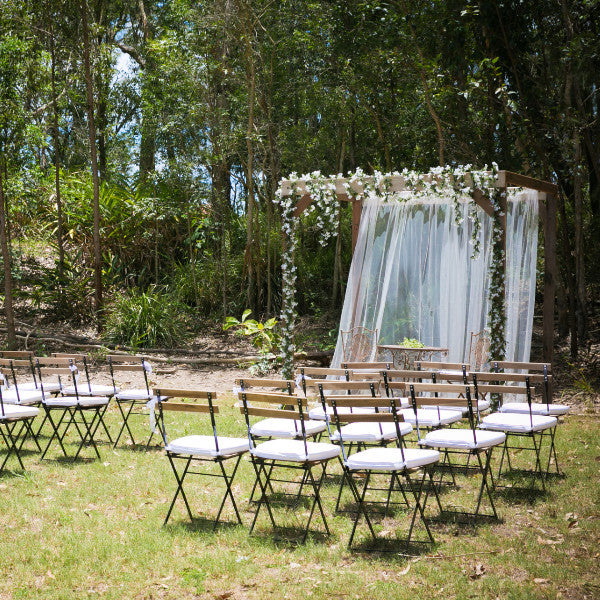 Ceremony Package Timber Arbor With Baby Breath Garland
