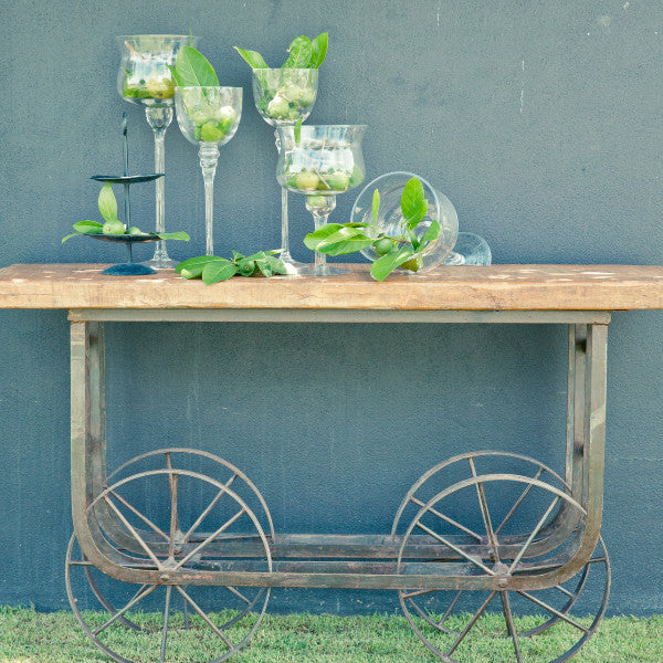 Wedding Prop Antique French Trolley