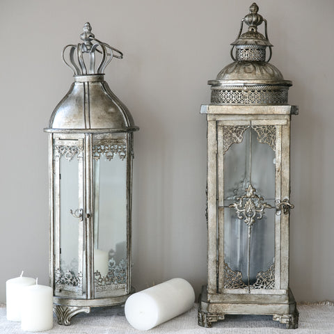 Candle Holder Silver Lantern