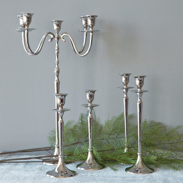 Candle Holder Silver