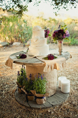 Wedding Prop Table Metal Spool