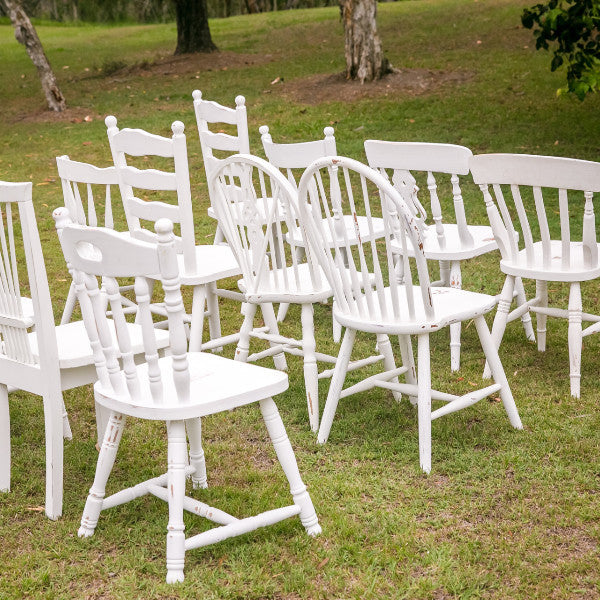 Chair White Timber Mix