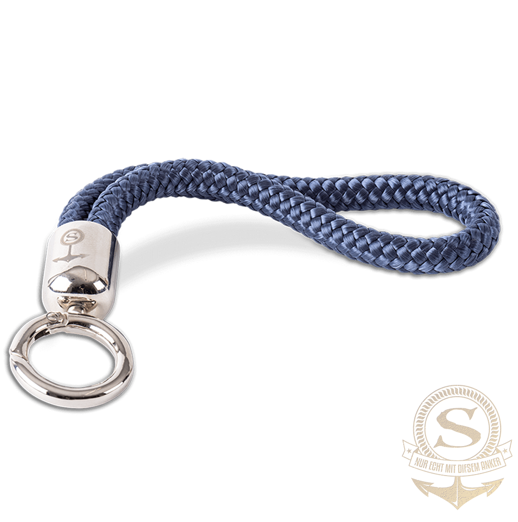 Santiano key chain made of sail rope