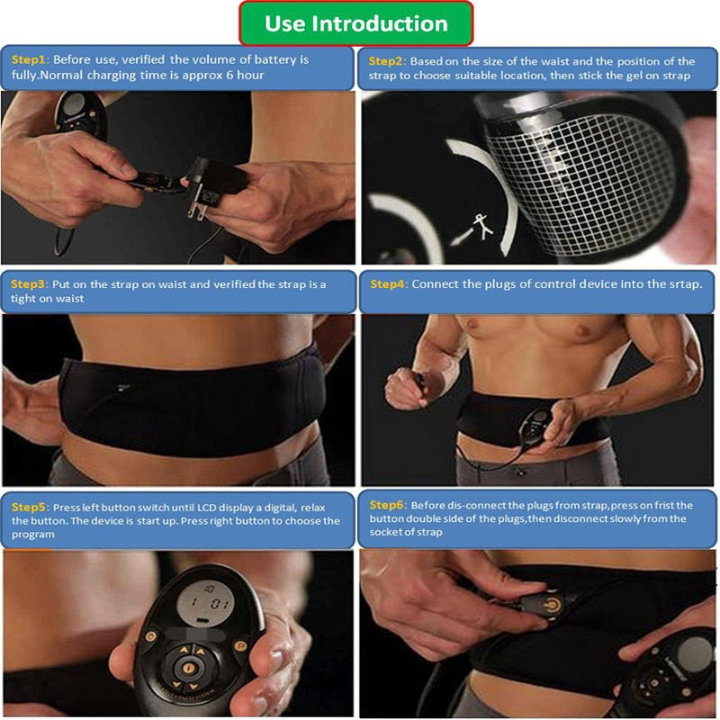 The Flex Belt Rechargeable Muscle Stimulator