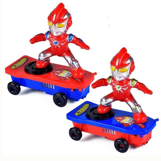 Spiderman/Iron Man Scooter Electric Car Music Led Lights Toys