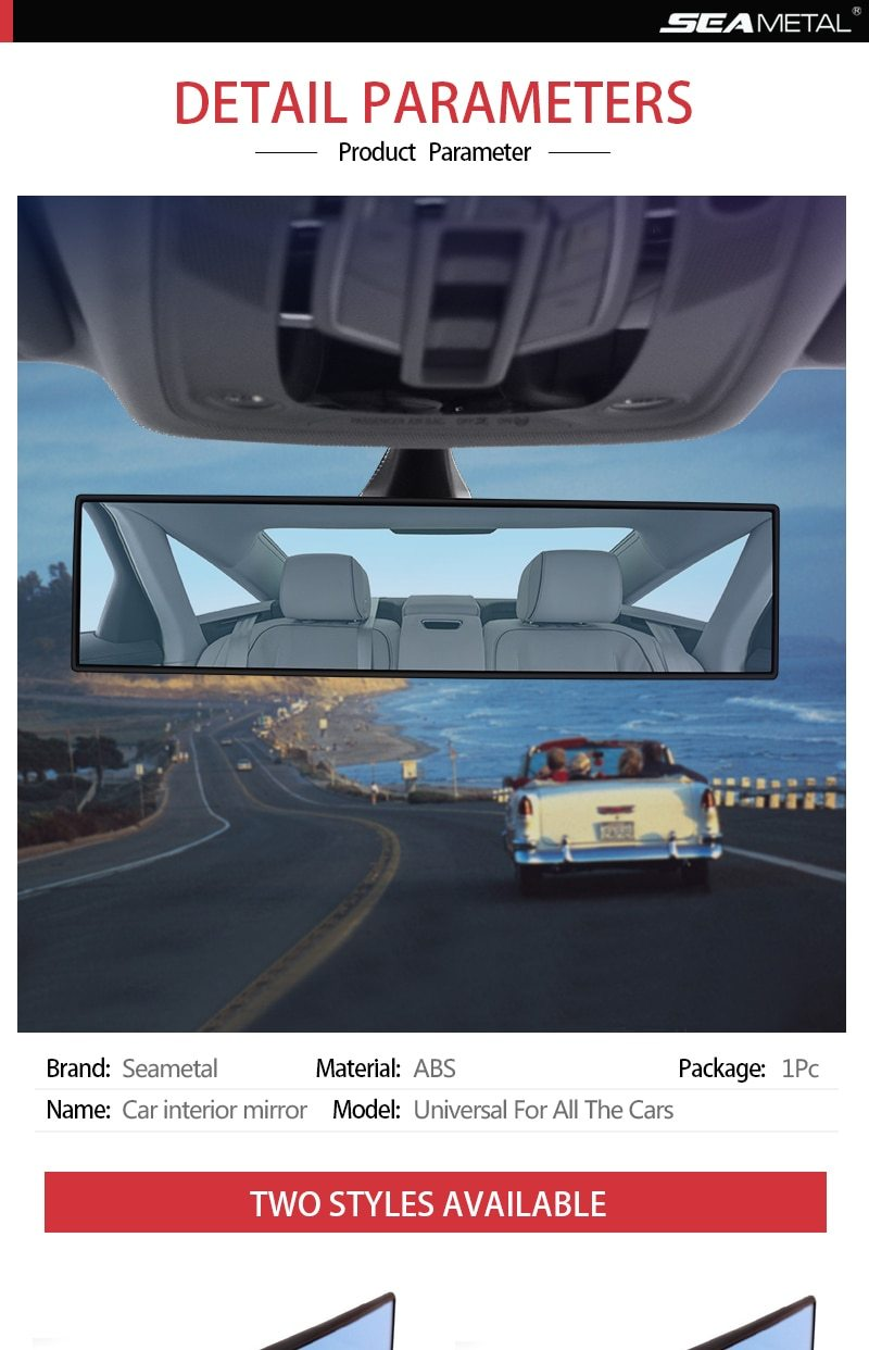 Panoramic Rearview Mirror Auto Reverse