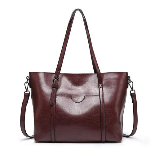 Okey-Large Capacity Solid Color Large Tote