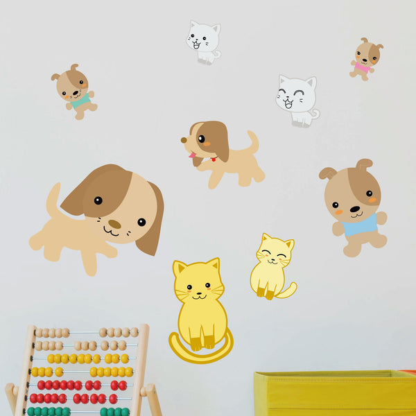 Cats & Dogs Wall Stickers