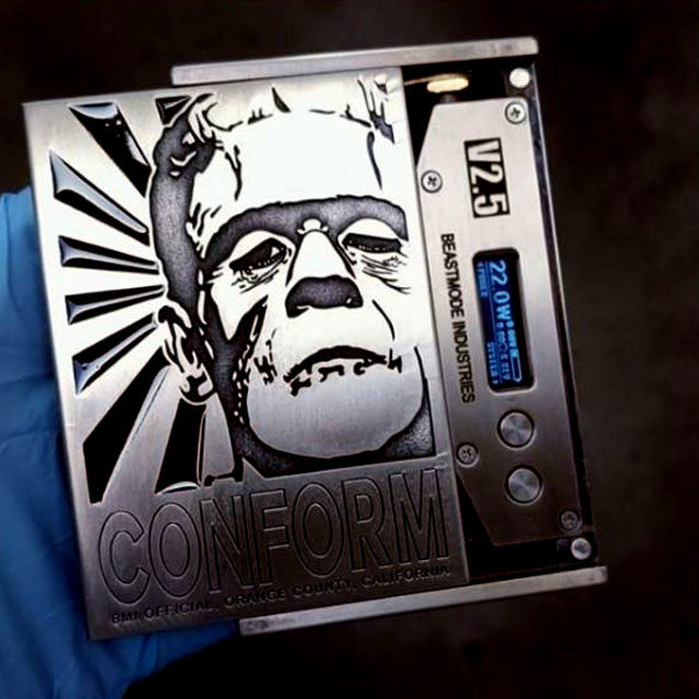 "BMI - BMI V2.5 - ""CONFORM TO FRANK"" NICKEL - BMI BOX MOD - VAPE MOD"