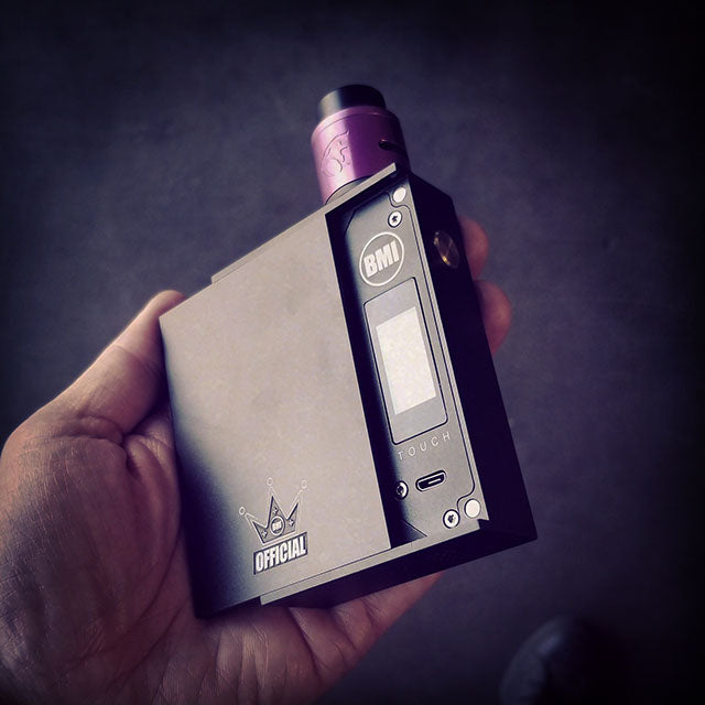 BMI - TOUCH - GRAPHITE MATTE BLACK - CROWN EDITION - BMI BOX MOD - VAPE MOD
