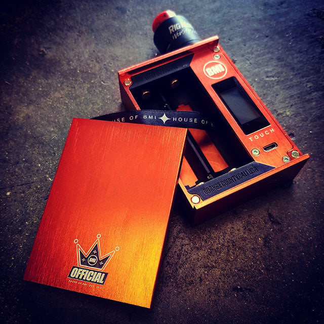 BMI - TOUCH - ELECTRIC ORANGE - CROWN EDITION - BMI BOX MOD - VAPE MOD