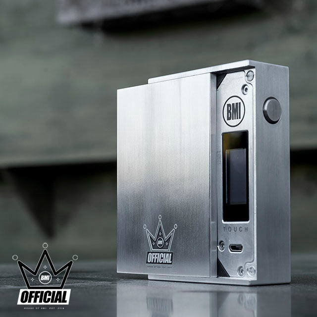 BMI - TOUCH - RAW/BRUSHED - PHANTOM EDITION - SPACE BLACK - BMI BOX MOD - VAPE MOD