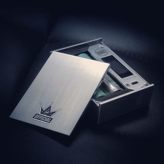 BMI - TOUCH - RAW/BRUSHED - PHANTOM EDITION - JADE GREEN/PURPLE - BMI BOX MOD - VAPE MOD