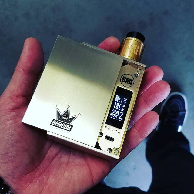 BMI - TOUCH - BRASS -  CROWN EDITION - BMI BOX MOD - VAPE MOD