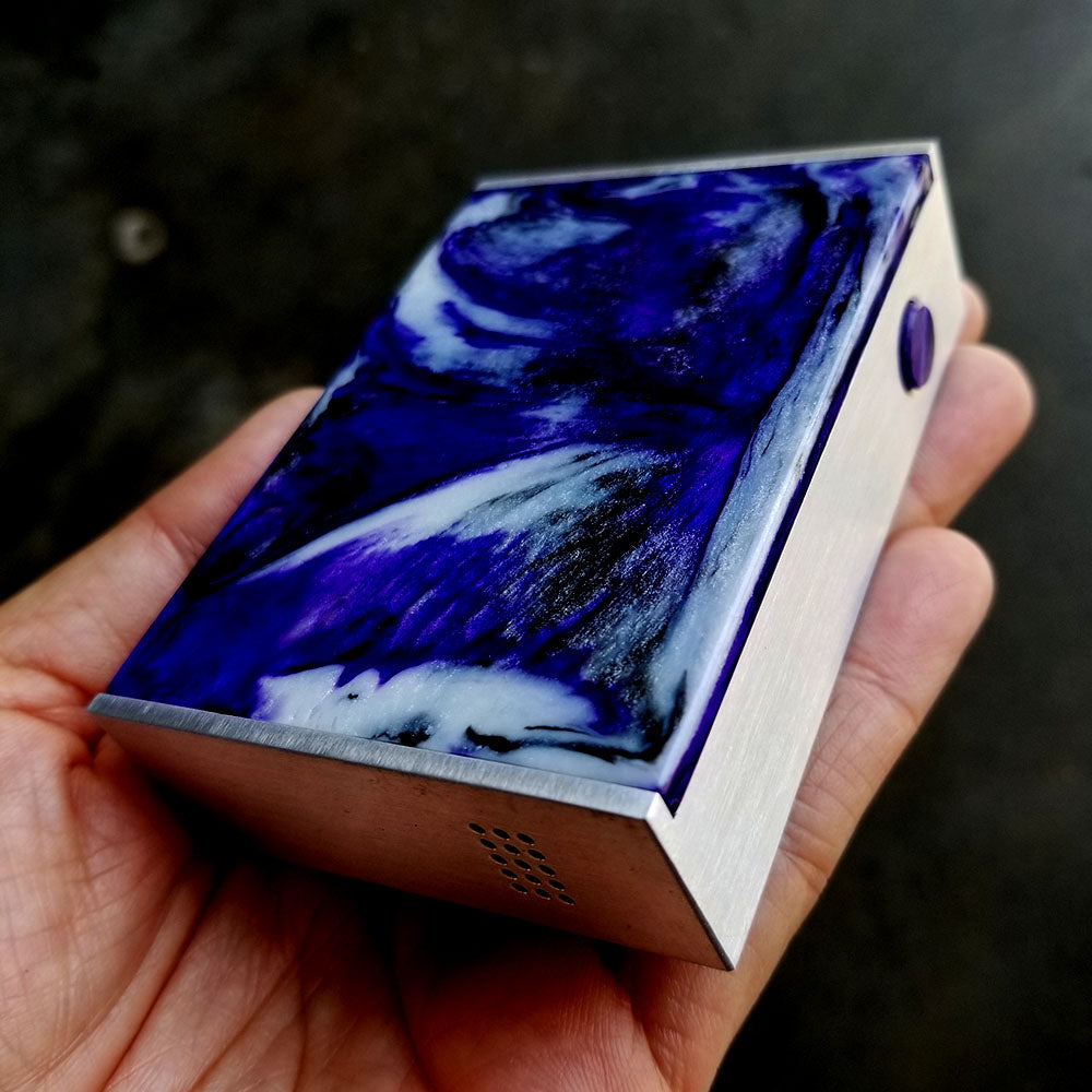 BMI - TOUCH - RAW/BRUSHED - PHANTOM EDITION - PHANTOM PURPLE - BMI BOX MOD - VAPE MOD