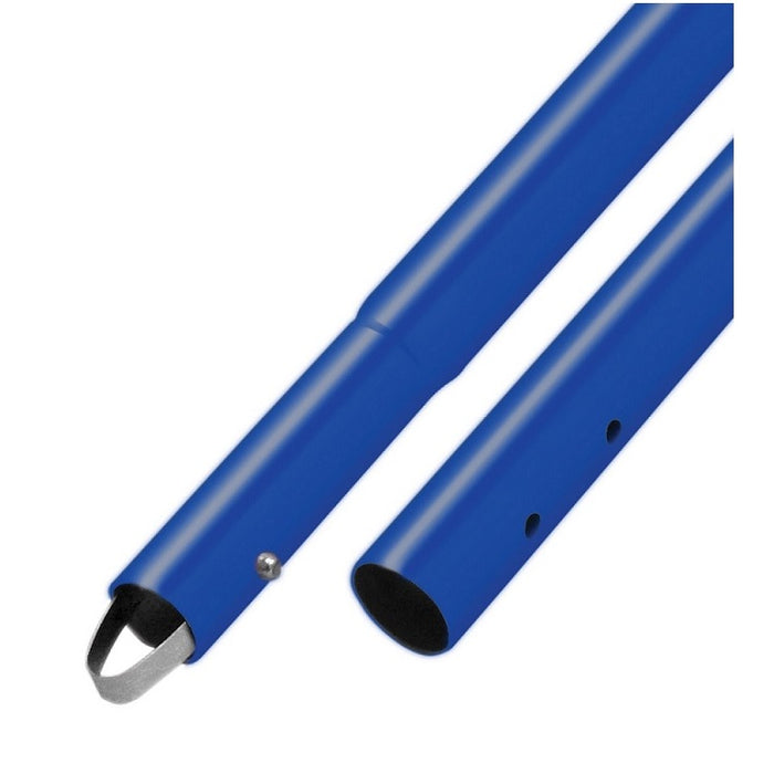 "6' Powder Coated 1-3/4"" Button Handle (6 Pack) Bright Blue"