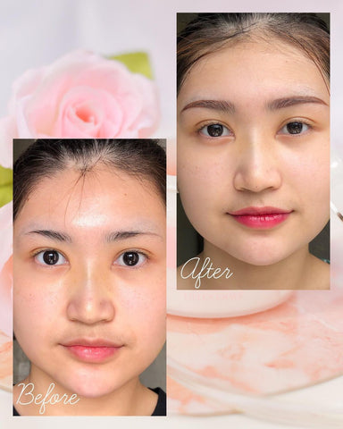 Eileen Grace Rose Jelly Mask Before and After Using