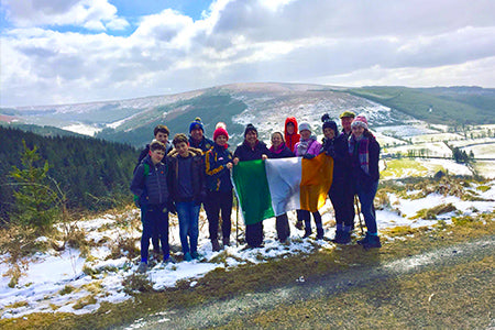 Hiking family trip in offaly
