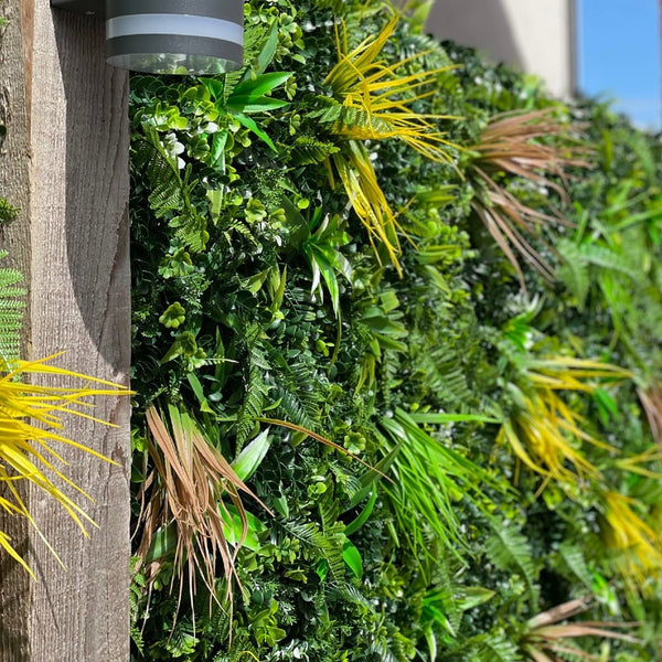 artificial green wall comparison and benefits