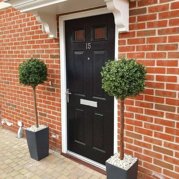 artificial topiary single ball tree in pots