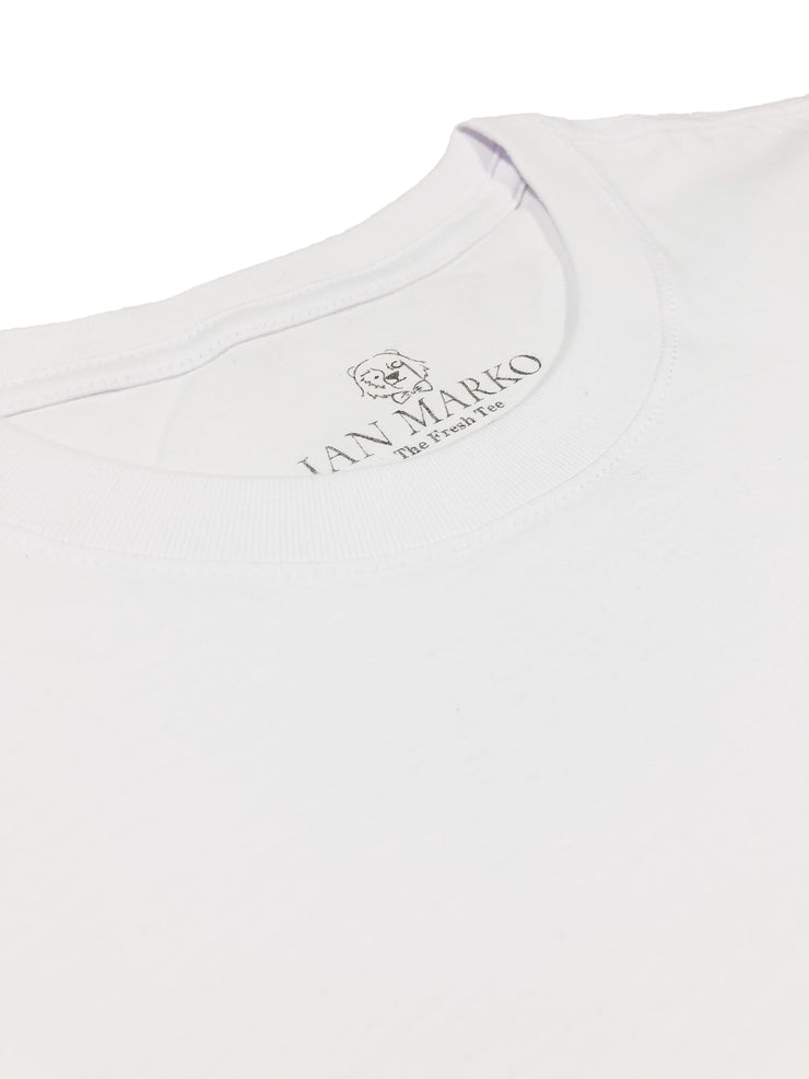 Pure White Premium Pima Tees (3 x Bundle)