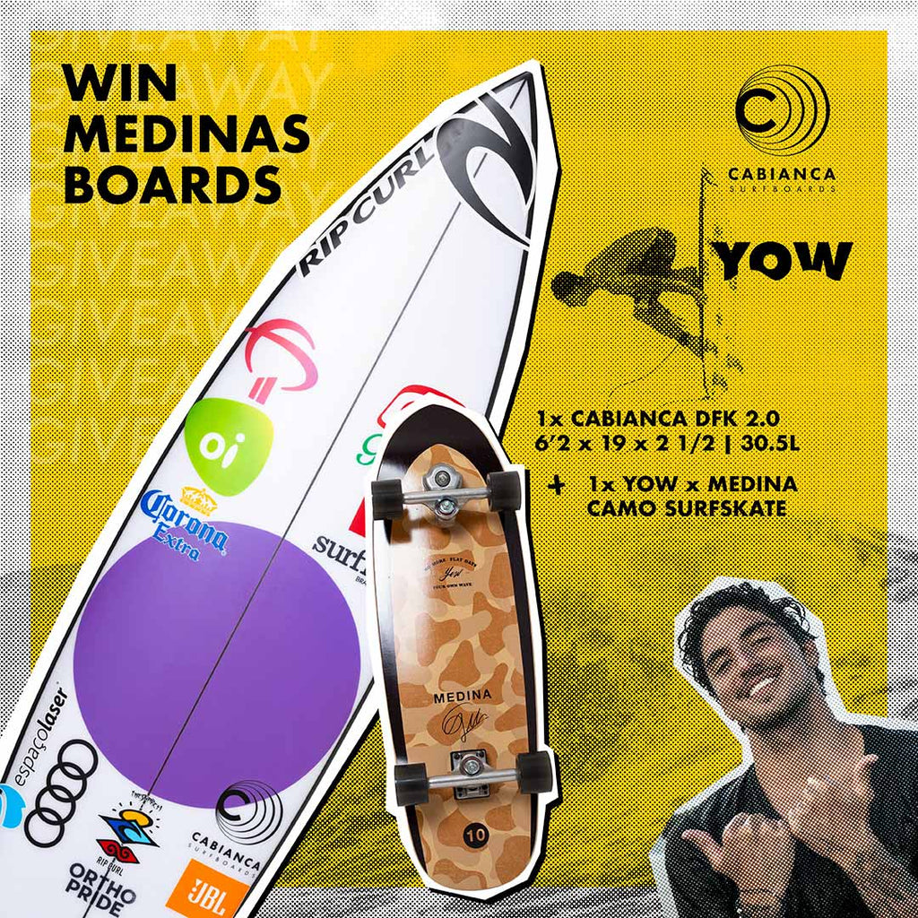 yow and garbriel medina giveaway a surfboard and surfskate cabianca