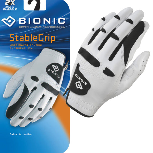 StableGrip Mens Golf Glove - White