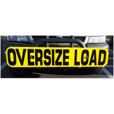 Wood Oversized Load Front Sign 12x60