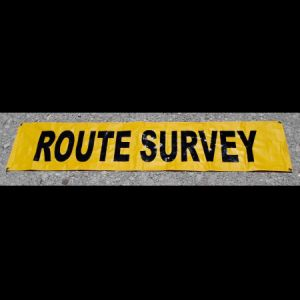 Grommet Route Survey Banner 12x60