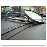 Pilot Car High Pole Mirror with Telescoping Arms