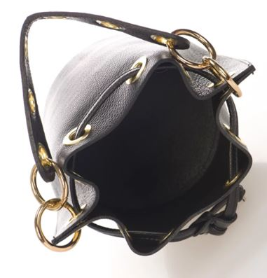 Italian Leather Markese Bucket Bag Black